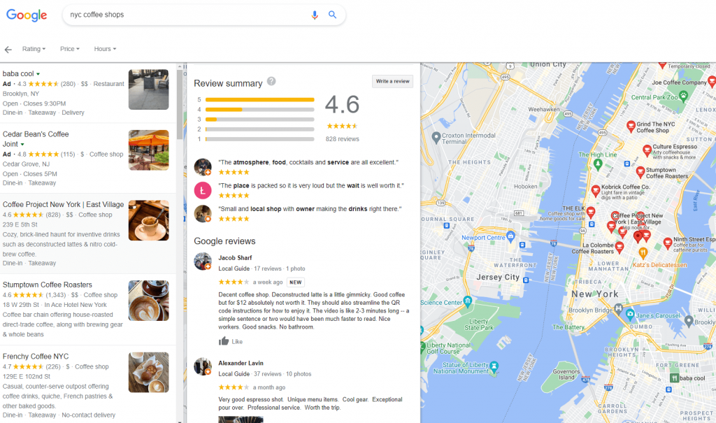 google my business local listing