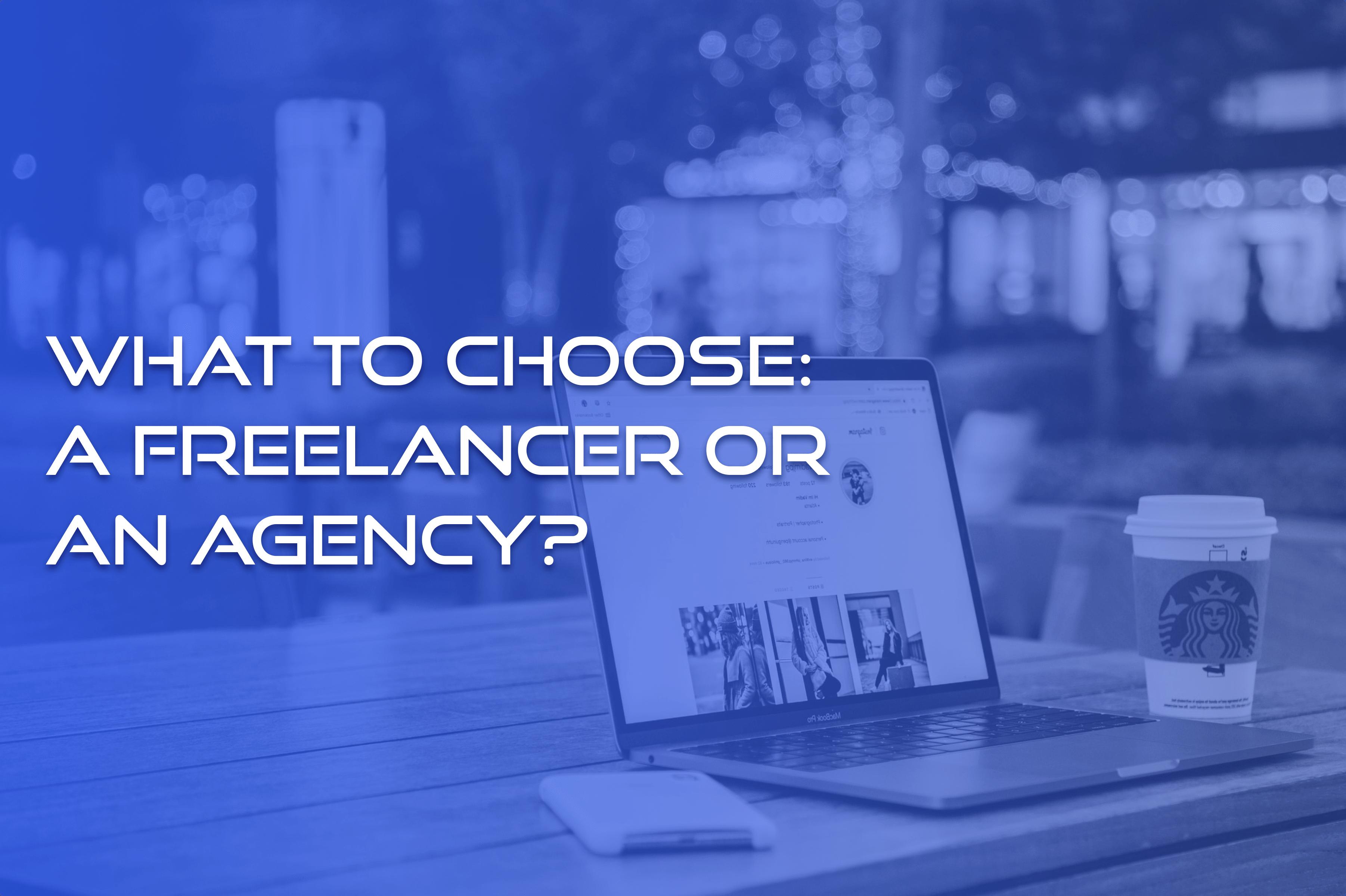 web development agency vs freelancer